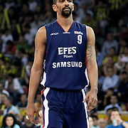 Efes Pilsen's Preston SHUMPERT during their Turkish Basketball league Play Off Final fourth leg match Fenerbahce Ulker between Efes Pilsen at the Abdi Ipekci Arena in Istanbul Turkey on Thursday 27 May 2010. Photo by Aykut AKICI/TURKPIX