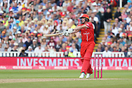 Lancashires James Falkner during the Vitality T20 Finals Day semi final 2018 match between Worcestershire Rapids and Lancashire Lightning at Edgbaston, Birmingham, United Kingdom on 15 September 2018.