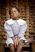 Portrait of school girl, Ombo Village.