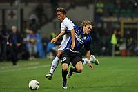 "Diego FORLAN Inter, Rodrigo TADDEI Roma<br /> Milano 17/9/2011 Stadio ""Giuseppe Meazza""<br /> Serie A 2011/2012 <br /> Football Calcio Inter Vs Roma<br /> Foto Insidefoto Alessandro Sabattini"