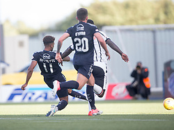 Falkirk's Myles Hippolyte scoring their second goal. Falkirk 2 v 0 Dunfermline, Scottish Challenge Cup played 7/9/2017 at The Falkirk Stadium.