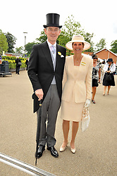 ANTHONY & GEORGINA ANDREWS at the Royal Ascot racing festival 2009 held on 17th June 2009.