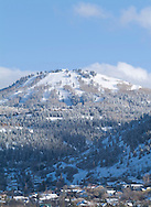 winter Park City town scene with Deer Valley in background