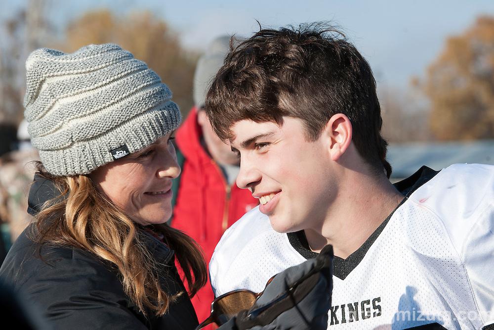 Melissa and Zac Jacobs post Vale - Scio 3A semifinal playoff game at Kennison Field, Hermiston, Oregon, Saturday, November 21, 2015. Vale won 42-14.