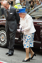 July 19, 2017 - London, London, UK - HRH QUEEN ELIZABETH II and the DUKE OF EDINBURGH arrives at Canada House to celebrate Canada's 150th anniversary of Confederation. (Credit Image: © Ray Tang via ZUMA Wire)