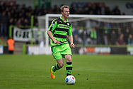 Forest Green Rovers Mark Ellis(5) on the ball during the Vanarama National League match between Forest Green Rovers and Chester FC at the New Lawn, Forest Green, United Kingdom on 14 April 2017. Photo by Shane Healey.