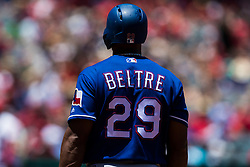 June 3, 2018 - Anaheim, CA, U.S. - ANAHEIM, CA - JUNE 03: Texas Rangers third baseman Adrian Beltre (29) during the MLB regular season game against the Los Angeles Angels of Anaheim on June 03, 2018 at Angel Stadium of Anaheim in Anaheim, CA. (Photo by Ric Tapia/Icon Sportswire) (Credit Image: © Ric Tapia/Icon SMI via ZUMA Press)