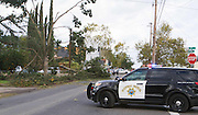 Nov. 15, 2015 - Denair, CA, USA - <br /> <br /> A tornado ripped through Denair, California Sunday Nov. 15th 2015 afternoon causing heavy damage to several building including a church. A large tree was pushed over into a large home on Zeering Rd. causing major damage to the home.<br /> ©Exclusivepix Media
