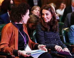 February 13, 2019 - London, London, United Kingdom - Image licensed to i-Images Picture Agency. 13/02/2019. London, United Kingdom. Catherine, Duchess of Cambridge attends a 'Mental Health In Education' conference  in London. The conference will bring together delegates from across the mental health and education sectors to explore and discuss the benefits of collaborative working and what more can be done to tackle mental health issues in schools. (Credit Image: © Pool/i-Images via ZUMA Press)