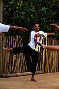 Belo Horizonte_MG, Brasil...Projeto Querubins, um dos projetos de Educacao pela Arte apoiado pelo Instituto Ayrton Senna. Na foto, aula de danca livre...Querubins project, a education through Art project, maintained by the Ayrton Senna Institute. In the photo, a class of dance free...Foto: LEO DRUMOND / NITRO