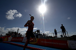 England's Alistair Brownlee enters the water during the Mixed Team Relay Triathlon final at the Southport Broadwater Parklands during day three of the 2018 Commonwealth Games in the Gold Coast, Australia.