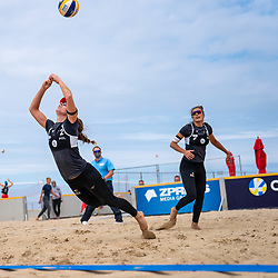Kinga Wojtasik (1) of Poland, Katarzyna Kociolek (2) of Poland in action during CEV Continental Cup Final Day 1 - Women on June 23, 2021 in The Hague