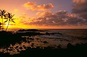 Sunset, North Shore, Oahu, Hawaii, USA<br />