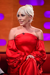 Lady Gaga during the filming of the Graham Norton Show at BBC Studioworks 6 Television Centre, Wood Lane, London, to be aired on BBC One on Friday evening.