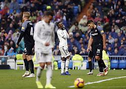 January 19, 2019 - Madrid, Madrid, Spain - Vinicius Jr (Real Madrid) seen reacting during the La Liga football match between Real Madrid and Sevilla FC at the Estadio Santiago Bernabéu in Madrid. (Credit Image: © Manu Reino/SOPA Images via ZUMA Wire)