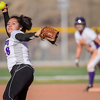 Miyamura Patriot Monique Ashley (8) pitches to the Kirtland Central Broncos Tuesday at Ford Canyon Park.