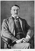 Cecil John Rhodes (1852-1902) English-born South African statesman. Photographic portrait published 1901