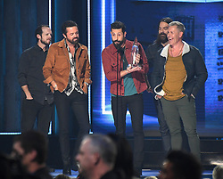 52nd Annual CMA Awards hosted by Brad Paisley and Carrie Underwood from the Bridgestone Arena. 14 Nov 2018 Pictured: Whit Sellers, Brad Tursi, Matthew Ramsey, Geoff Sprung and Trevor Rosen of Old Dominion. Photo credit: MBS/MEGA TheMegaAgency.com +1 888 505 6342