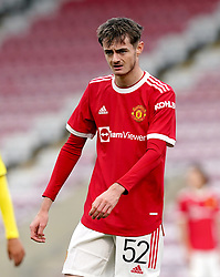 Manchester United's Joe Hugill during the UEFA Youth League, Group F match at Leigh Sports Village, Manchester. Picture date: Wednesday September 29, 2021.