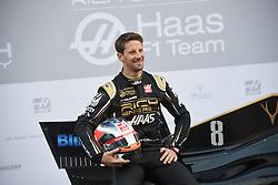 February 18, 2019 - Barcelona, Spain - Romain Grosjean during media presentation of new Rich Energy Haas F1 Team car, on February 18, 2019. (Credit Image: © Andrea Diodato/NurPhoto via ZUMA Press)