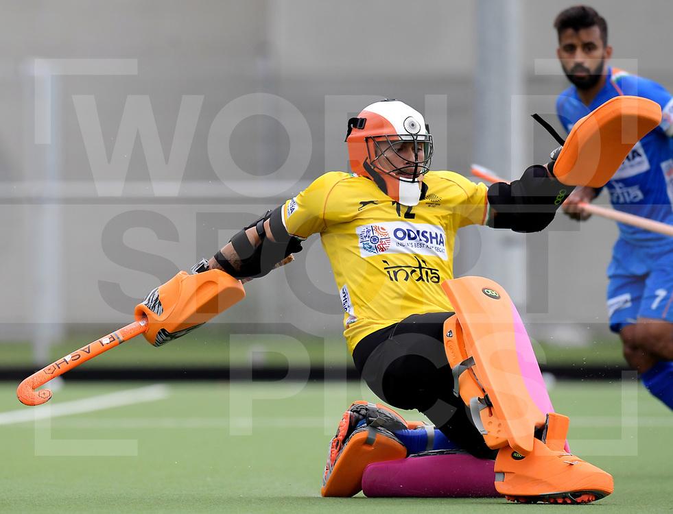 ANTWERP - 2019 Test Matches: India<br /> Belgium v India<br /> Photo: Krishan Pathak (GK) <br /> WORLDSPORTPICS COPYRIGHT FRANK UIJLENBROEK