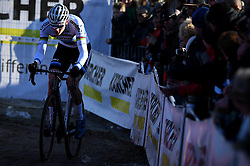 February 10, 2018 - Lille, BELGIUM - Dutch Mathieu Van Der Poel pictured in action during the men's elite race of the Krawatencross cyclocross in Lille, the eighth and last stage in the DVV Verzekeringen Trofee Cyclocross competition, Saturday 10 February 2018. BELGA PHOTO DAVID STOCKMAN (Credit Image: © David Stockman/Belga via ZUMA Press)