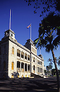 Iolani Palace, Honolulu, Oahu, Hawaii USA<br />