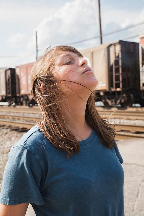 Documentary filmmaker Sarah Ginsburg, outside of Nashville in 2015.