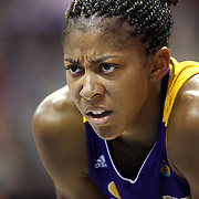 Candace Parker, Los Angeles Sparks, during the Connecticut Sun Vs Los Angeles Sparks WNBA regular season game at Mohegan Sun Arena, Uncasville, Connecticut, USA. 3rd July 2014. Photo Tim Clayton