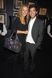 KATE MELHUISH and JACK FREUD at a party to celebrate the publication of the 2007 Tatler Little Black Book held at Tramp, 40 Jermyn Street, London on 7th November 2007.<br />