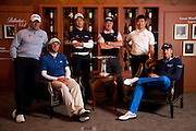 Ballantine's Championship pre-tournament photocall. L-R Lee Westwood Dustin Johnson, Liang Wen-Chong, Miguel Angel Jiminez. YE Yang Ian Poulter,,