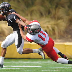 Santa Ana College defeats Palomar 52-45 in college football at Santa Ana City Stadium in Santa Ana, CA on Sept 24, 2011.