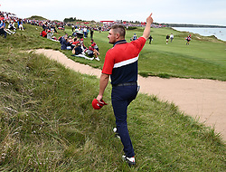 Team USA's Bryson Dechambeau celebrates after beating Team Europe's Sergio Garcia in the singles match during day three of the 43rd Ryder Cup at Whistling Straits, Wisconsin. Picture date: Sunday September 26, 2021.