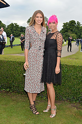 Left to right, SABRINA PERCY and AMBER LE BON at the Laureus King Power Cup polo match held at Ham Polo Club, Richmond on 16th June 2016.
