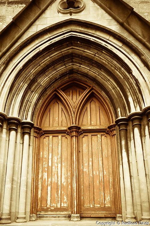 Church door in Kilkenny, Ireland