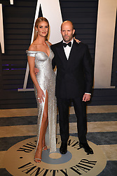 Jason Statham, Rosie Huntington-Whiteley attending the 2019 Vanity Fair Oscar Party hosted by editor Radhika Jones held at the Wallis Annenberg Center for the Performing Arts on February 24, 2019 in Los Angeles, CA, USA. Photo by David Niviere/ABACAPRESS.COM
