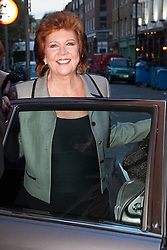 """© under license to London News Pictures. LONDON, 19/05/2011. Cilla Black leaving the exhibition. Opening of the Tommy Nutter Exhibition """"Rebel on the Row"""" at the Fashion and Textile Museum, London. Photo credit should read BETTINA STRENSKE/LNP"""