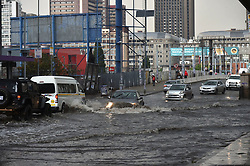 South Africa - Johannesburg - 05 September 2020 - Motorists navigate theirway around the JoburgCBD,most parts of Gauteng experiencingsevere thunderstorms.<br /> Picture: Itumeleng English/African News Agency(ANA)