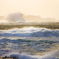 Stormy irish weather at atlantic coast of Iveragh Peninsula southwest ireland near cahersiveen / ws039