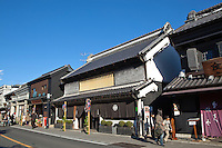 Kawagoe's Ichiban Gai Street is lined with intriguing buildings of Kurazukuri architecture. The buildings were also resistant against fire because the shogunate promoted roof tiles for the buildings. In the Edo Period, towns with storehouses made of clay were popular..In Kawagoe as well, Kurazukuri merchant houses were built because of the strong business ties with the old city of Edo now known as Tokyo.