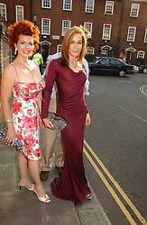 Left to right, CLEO ROCCOS and TARA PALMER-TOMKINSON at Sir David & Lady Carina Frost's annual summer party held in Carlyle Square, Chelsea, London on 5th July 2006.<br />