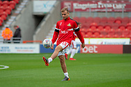 Doncaster Rovers midfielder Herbie Kane warms up during the EFL Sky Bet League 1 match between Doncaster Rovers and Bradford City at the Keepmoat Stadium, Doncaster, England on 22 September 2018.