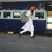 The everyday activity of a large train station, like Chandigarh