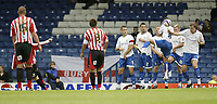 Photo: Aidan Ellis.<br /> Bury FC v Brentford. Coca Cola League 2. 01/09/2007.<br /> Brentford's Glenn Poole (Blocked) curls his free kick over the Bury wall to score the first goal
