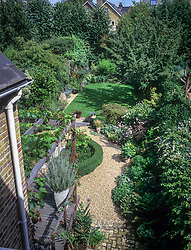 Sequence from an overhead fixed position showing the progression of sunlight and shade as it moves around the garden during the day. Position 3