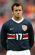 Chris Klein (17), of the United States, pregame on Sunday, February 19th, 2005 at Pizza Hut Park in Frisco, Texas. The United States Men's National Team defeated Guatemala 4-0 in a men's international friendly.