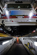 0043<br /> BC Transit mechanic Mike Wilson inspects a bus after a day on the road.<br /> Arnold Lim/News staff
