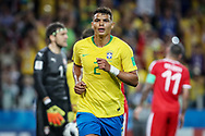 Thiago Silva of Brazil celebrates his goal during the 2018 FIFA World Cup Russia, Group E football match between Erbia and Brazil on June 27, 2018 at Spartak Stadium in Moscow, Russia - Photo Thiago Bernardes / FramePhoto / ProSportsImages / DPPI