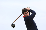Taylor Morrison (Carrickfergus) on the 1st tee during Round 2 of the Connacht U16 Boys Amateur Open Championship at Galway Bay Golf Club, Oranmore, Galway on Wednesday 17th April 2019.<br /> Picture:  Thos Caffrey / www.golffile.ie