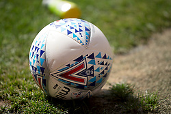 General view of a Mitre football on the pitch